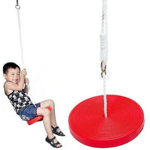 Red Swinging Tree Seat Outdoor Activity Fun 70kg Max Weight New