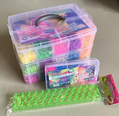 Loom Bands Packung mit 600 Gummibändern und 24 S-Haken