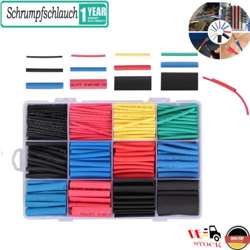 800 x Schrumpfschlauch Set Sortiment Universal Schlauch Schrumpfschläuche Farbig