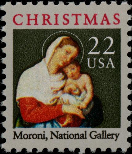 1987 22c Madonna & Child, Moroni, National Gallery Scot