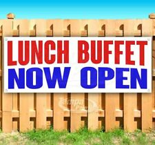 Lunch Buffet Now Open Advertising Vinyl Banner Flag Sign Many Sizes