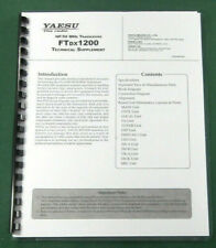 "full set of 11/""X17/"" Foldouts /& Protective Covers Yaesu FT-1000 Technical Manual"