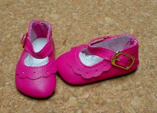 BJDs Doll Shoes 64mm FUSCHIA Classic Ankle Straps fit MSD Kish 4 seasons