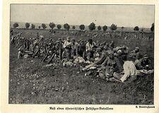 1914 Kampf um Lemberg * Österreichische Feldjäger bei der Rast *  WW1