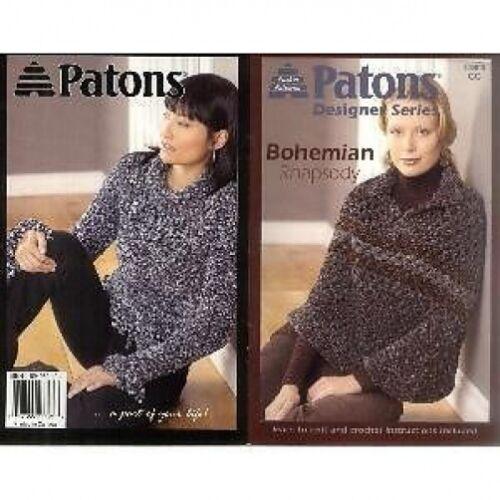 Patons Bohemian Rhapsody tejer y patrón de ganchillo 6 Diseños