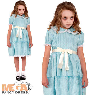 Creepy Sister Fancy Dress The Shining Twins Kids Childs Costume Ebay