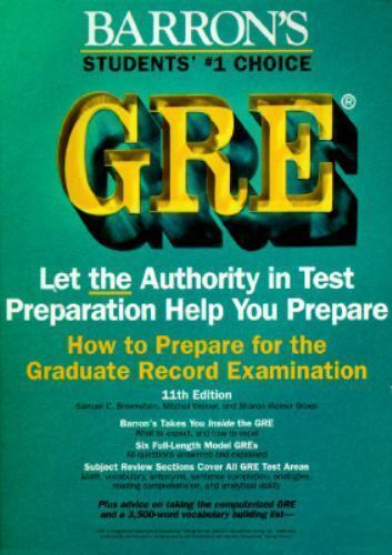How to Prepare for the GRE : Graduate Record Examination A67