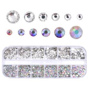 1-Box-AB-Nail-Crystal-Rhinestone-Flat-Bottom-Multi-Size-Nail-Art-3D-Decoration