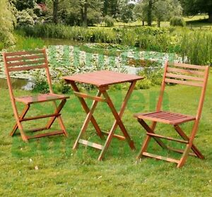 hardwood outdoor garden furniture bistro set chairs table ebay