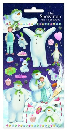 Paper Projects SNOWMAN /& SNOWDOG reusable Foil Craft Stickers Age 3+