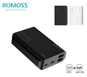ROMOSS Portable Charger 10000mAh Mini Power Bank 2USB External Battery Backup