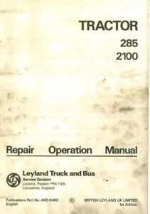 Leyland Tracteur 285 & 2100 Workshop Service Manual-afficher Le Titre D'origine