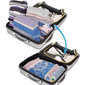 Vacuum Storage Space Saving Bags Compressed Travel Reusable Large Saver WYS