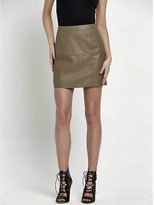 341d287fb4 RIVER ISLAND Skirt - River Island Brown Textured Faux Leather A Line ...
