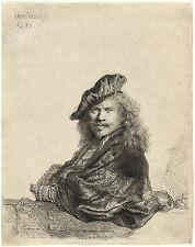 Rembrandt  Portrait Etchings: Four (4) Self Portraits : Fine Art Prints