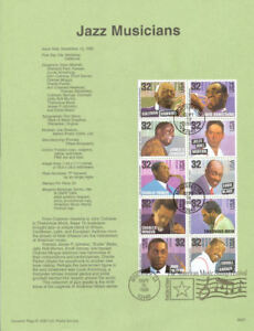 9537-32c-Jazz-Musicians-2983-2992-USPS-Souvenir-Page