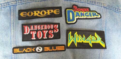Winger Danger Danger Black N Blue Europe Dangerous embroidered patch hard rock