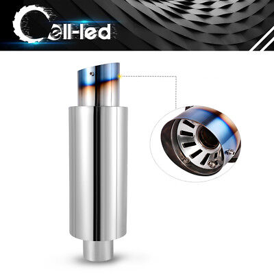 Muffler Stainless 1-3//4 in Center Inlet Each 3 in Diffuser Outlet