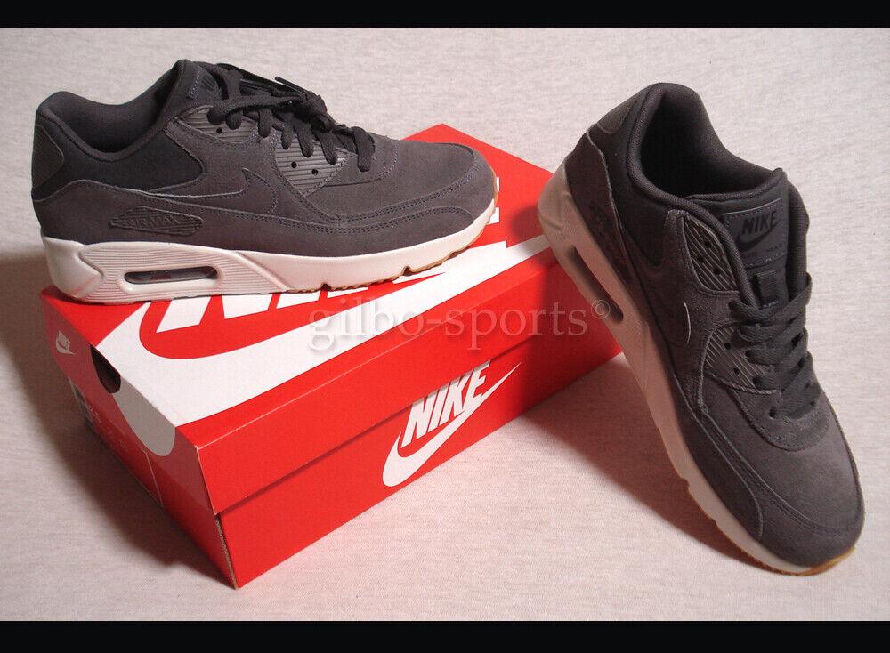 Nike Air Max 90 Ultra 2.0 LTR Leather Thunder grau Gr. 42 43 44 44,5 924447 004