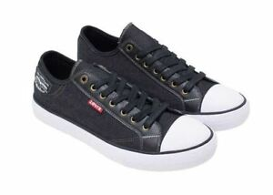cb1e8ffcdb NIB Levi s Jeans Stan Buck C Men s Canvas Sneakers Shoes Black Denim ...