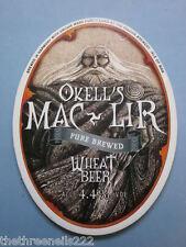 BEER PUMP CLIP - OKELL'S MAC LIR WHEAT BEER
