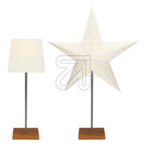 Kombi-Leuchte mit Wechselschirm und Papierstern Lampe Dekoration Deko Licht