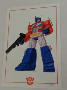 G1 Transformers Autobot Optimus Prime Poster 11x17 Box White Background FREESHIP