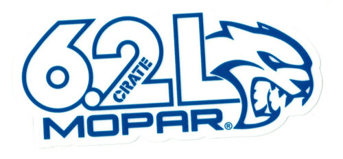 "MOPAR Sticker Decal 4.25/"" x 2.5/"" .. Crate 6.2L Challenger Hellcat"