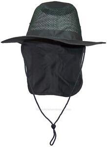 Summer Wide Brim Mesh Safari Outback Hat W Neck Flap  982 Hunter S ... 9e5f172d349a
