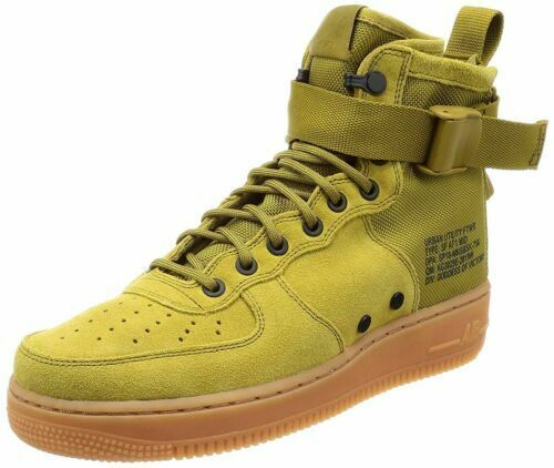 more photos c5bea 49c40 Nike SF Af1 Mid Air Force 1 Shoes Desert Moss Green Gum 917753-301 Mens  11.5 for sale online   eBay