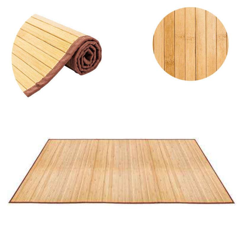 Natural Bamboo 5 8 Non Sliding Waterproof Floor Mat Area Rug Indoor Carpet