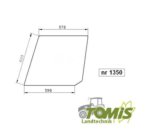 Glas Scheibe Tür oben li re Deutz DX 85 90 110 120 140 160 farblos 1350