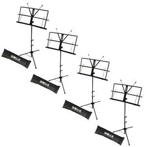QUIKLOK-MS335-pacchetto-pack-leggii-regolabili-borsa-x-musica-spartiti-4-UNITa