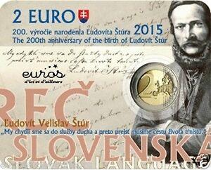 Coincard-2-euros-BU-SLOVAQUIE-2015-200eme-Ann-de-la-Naissance-de-Ludovit-tur