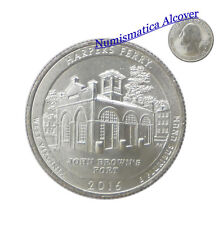 ESTADOS UNIDOS USA quarter dollar 2016 P WEST VIRGINIA HARPERS FERRY UNC