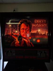 Dirty-Harry-Arcade-Pinball-by-Williams-LED-Clean-Free-Shipping