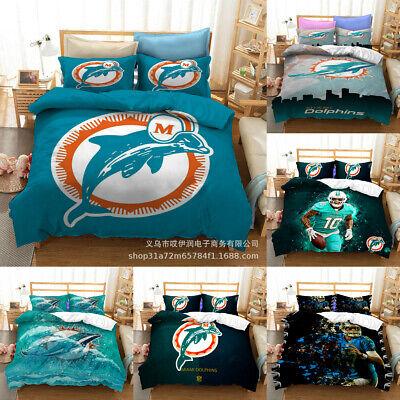 Miami Dolphins Duvet Cover Bedding Set, Miami Dolphins Bedding Sets