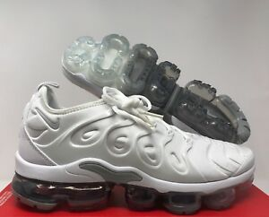 competitive price f33cb 54e9f Image is loading NIKE-AIR-VAPORMAX-PLUS-WHITE-PURE-PLATINUM-WOLF-