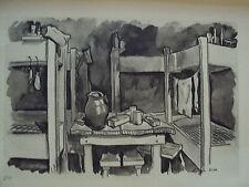 PLANCHE DE JOSE DE SELVA GUERRE 1941 OFLAG III C LITS DES PRISONNIERS