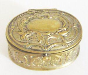 100% Vrai Coffret Boite A Bijoux En Laiton Xx è Antique French Jewellery Box