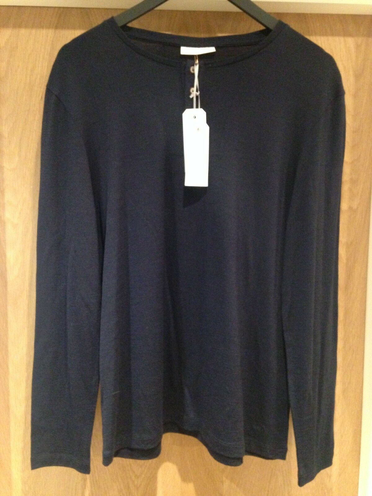 Designer King Tuckfield Woman's Large Navy Blau Long Sleeve T-Shirt BNWT RRP