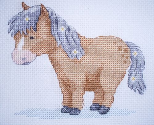 KL120 Poppy Pony Horse Counted Cross Stitch Kit by Genny Haines