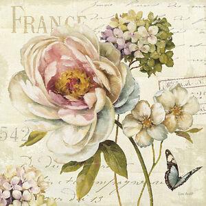 Lisa Audit: Marche de Fleurs III Keilrahmen-Bil<wbr/>d Leinwand Blumen Vintage Shabby