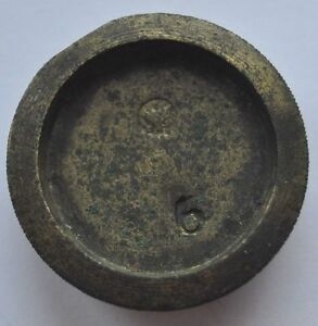 1900s-Imperial-Russia-Solid-Bronze-Scales-Weight-Marked-6-25-7-grams