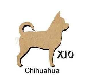 MDF-Shape-Dog-10-CHIHUAHUA-MDF-cutouts-keyring-5-SiZES-FREE-hole-DOGW101