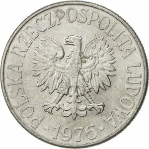Poland 1972-20 Groszy Aluminum Coin Eagle with wings open