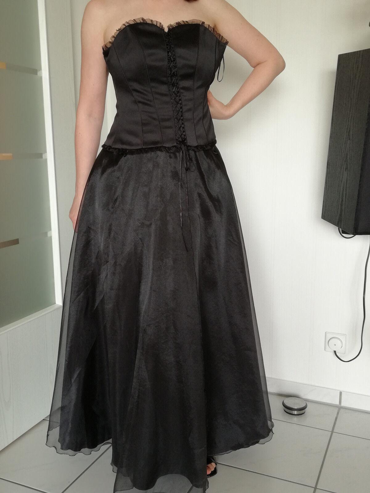 Schönes Kleid Abendkleid Abikleid, Coctailkleid Gr. 36, schwarz, lang, C&A