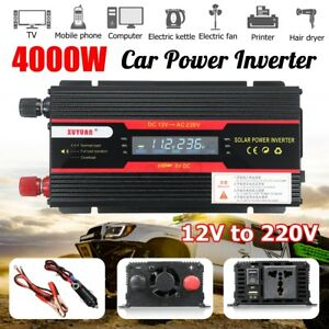 AU-4000W-PEAK-INVERTER-CAR-BOAT-SOLAR-SINE-WAVE-POWER-LCD-DC-12V-TO-AC-220V-240V