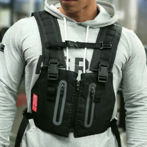 Tactical Front Chest Rig Bag Pouch Outdoor Sport Protective Vest Multi-function
