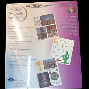 CREATIVE MEMORIES  WHITE SCRAPBOOK PAGES  8 x 10 REFILL RCM-10S NEW SEALED